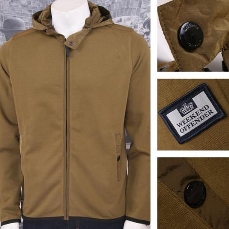 Weekend Offender Retro Casual Terrace Jersey Zip Through Hooded Jumper Thumbnail 3