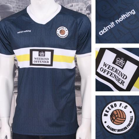 Weekend Offender Retro Casual Terrace Eighties Nineties Football Club Tee Thumbnail 2