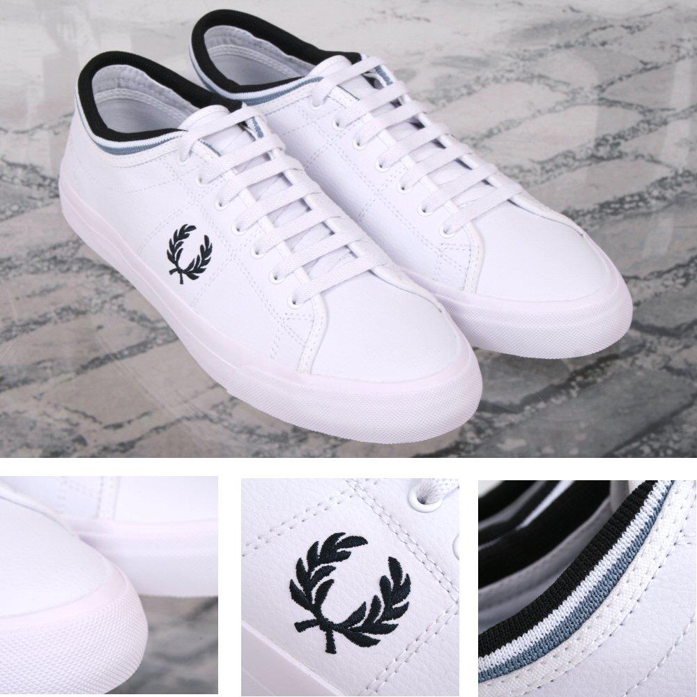Fred Perry Retro Kendrick Casual Leather Sports Trainer Shoe White
