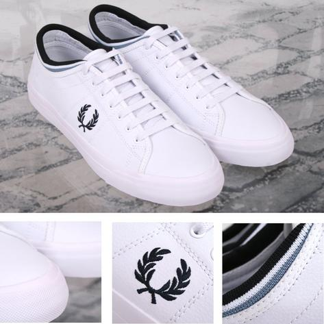 Fred Perry Retro Kendrick Casual Leather Sports Trainer Shoe White Thumbnail 1