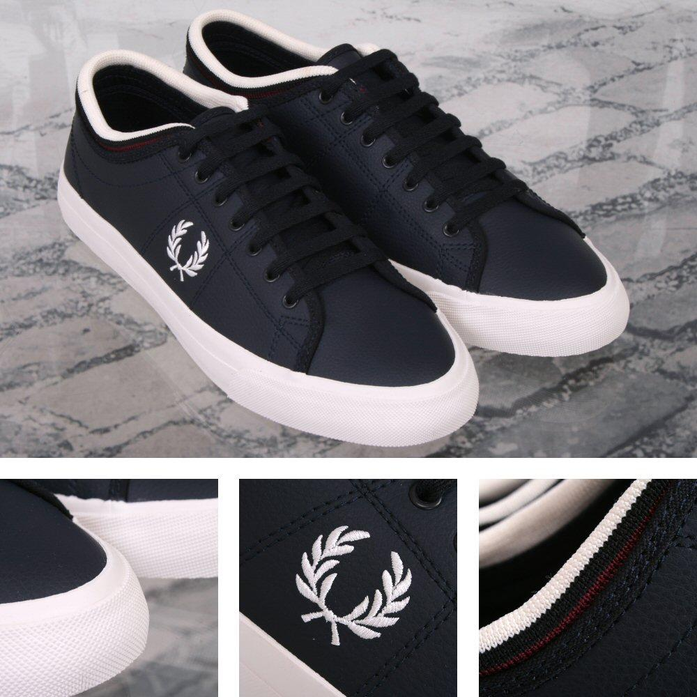 Fred Perry Retro Kendrick Casual Leather Sports Trainer Shoe Navy