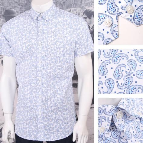 Ska & Soul Mod Retro Paisley Print Short Sleeve Button Down Shirt Thumbnail 3