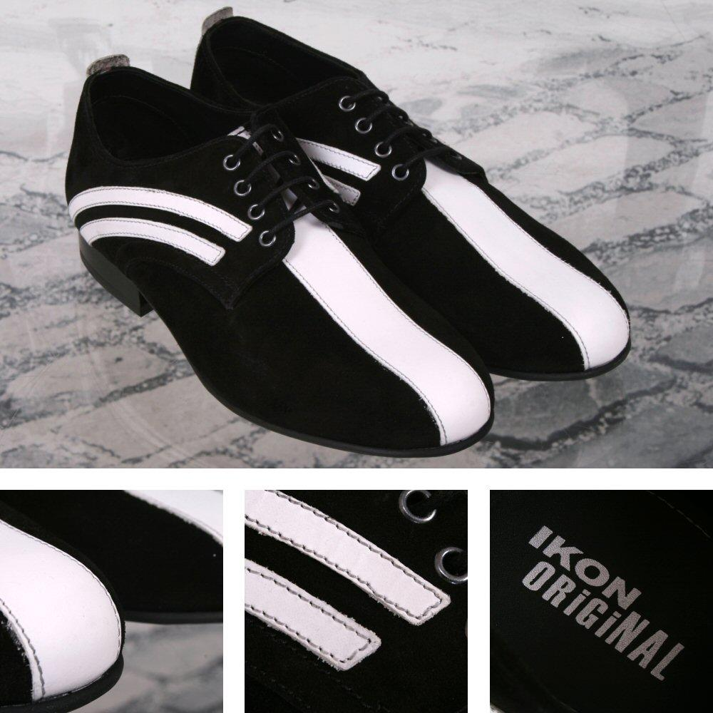 Ikon Originals Badger Mod 79 Revival Jam Stage Tour Shoe Suede Black White