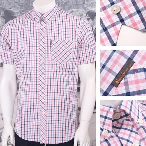 Ben Sherman Mod Retro 60's Button Down Classic House Check Shirt Thumbnail 3