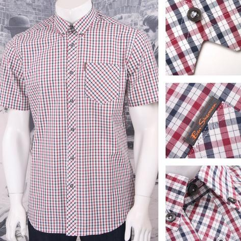 Ben Sherman Mod Retro 60's Button Down Classic House Check Shirt Thumbnail 2