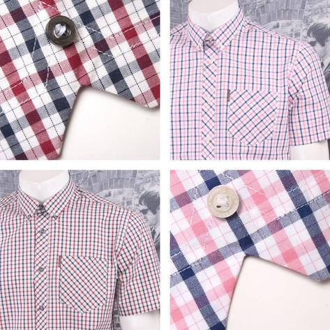 Ben Sherman Mod Retro 60's Button Down Classic House Check Shirt Thumbnail 1