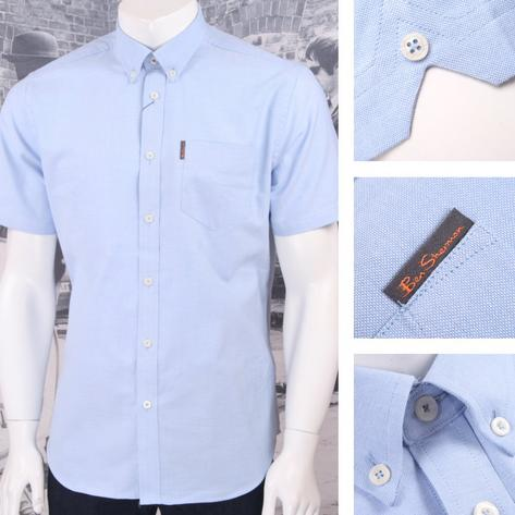 Ben Sherman Mod Retro Classic Oxford Cotton Button Down Shirt Thumbnail 2