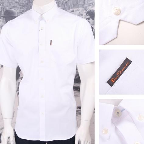 Ben Sherman Mod Retro Classic Oxford Cotton Button Down Shirt Thumbnail 3
