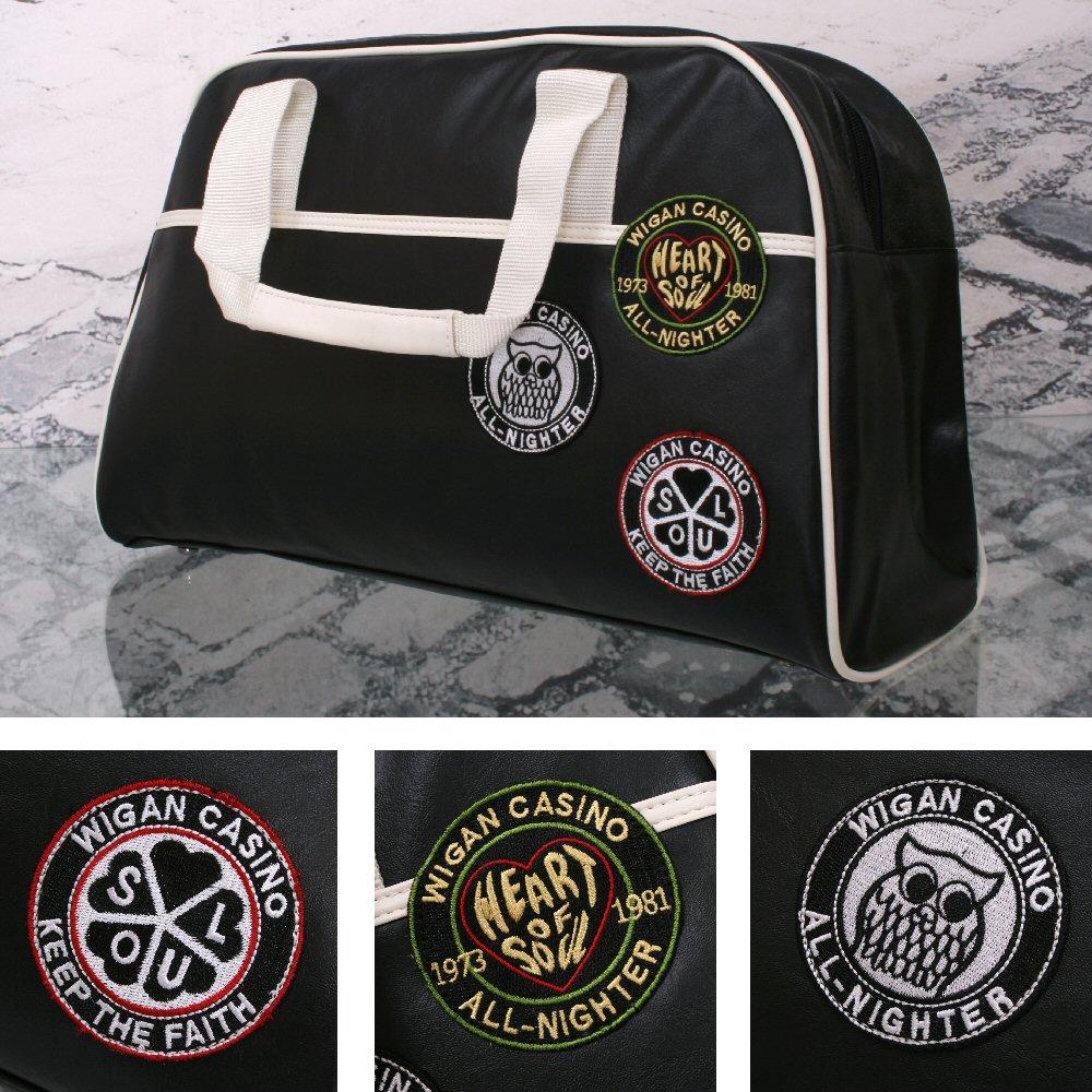 Wigan Casino Northern Soul 70's Weekender Bowling Holdall Bag Black