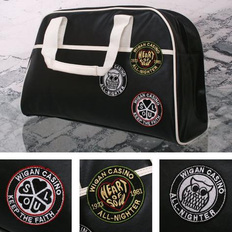 Wigan Casino Northern Soul 70's Weekender Bowling Holdall Bag Black Thumbnail 1