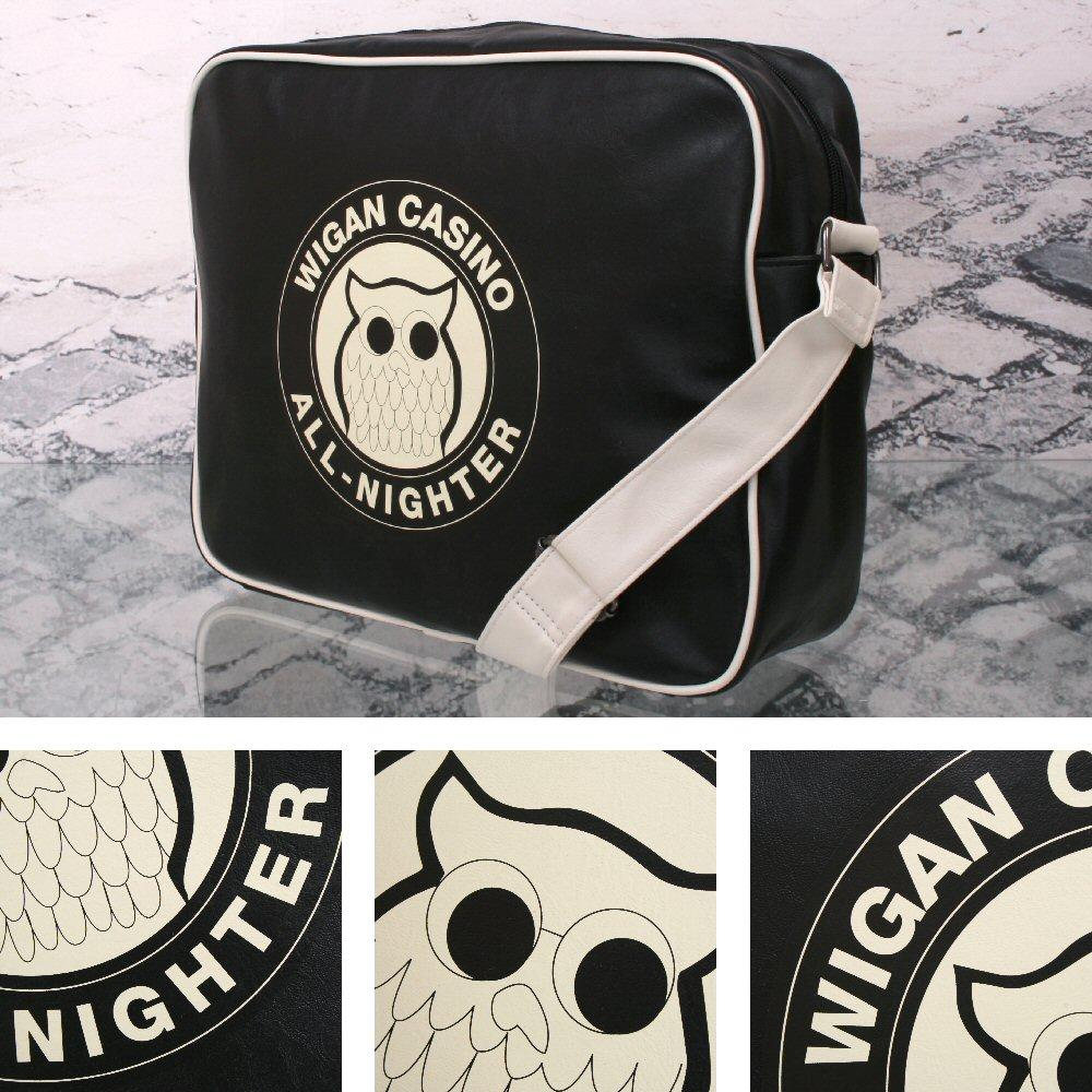 Wigan Casino Northern Soul 70's Satchel Messenger Record Bag Black