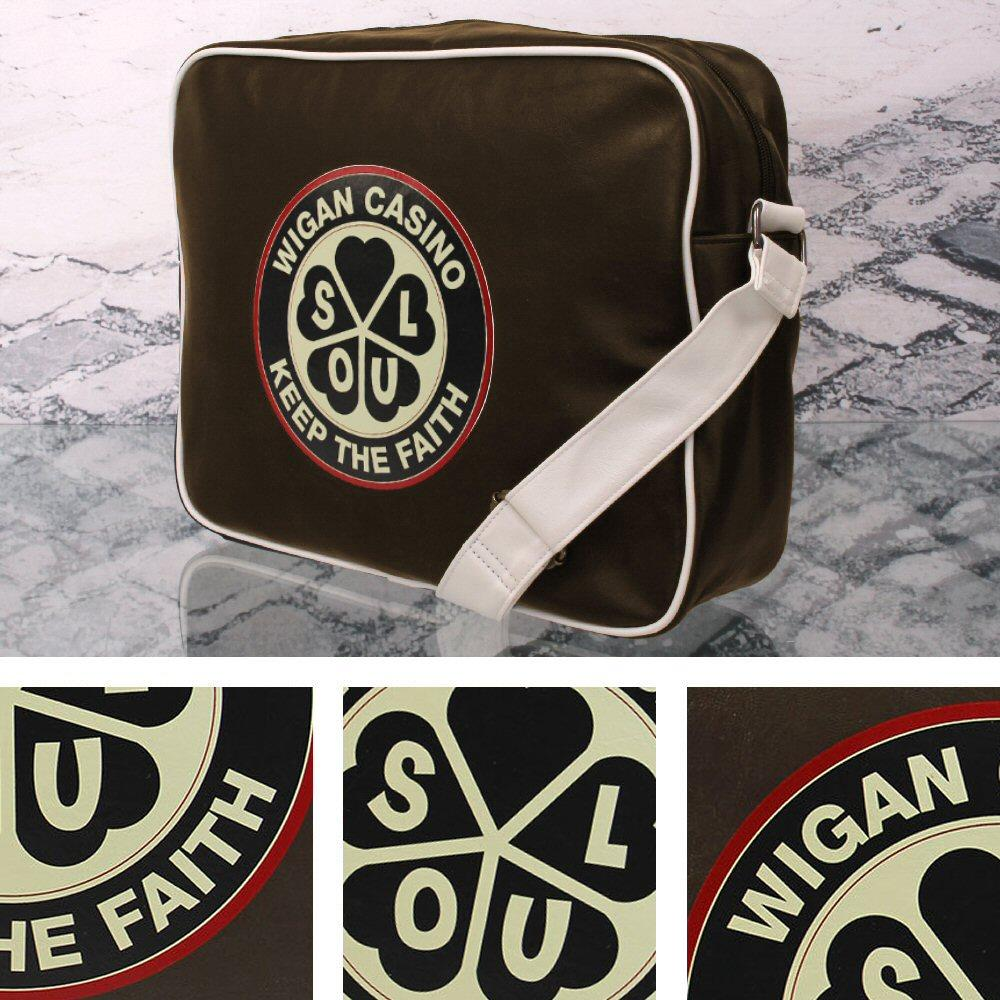 8f7181b928 Wigan Casino Northern Soul 70 s Satchel Messenger Record Bag Brown ...