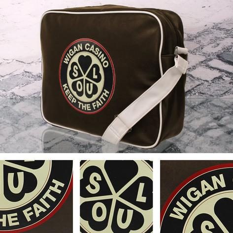 Wigan Casino Northern Soul 70's Satchel Messenger Record Bag Brown Thumbnail 1