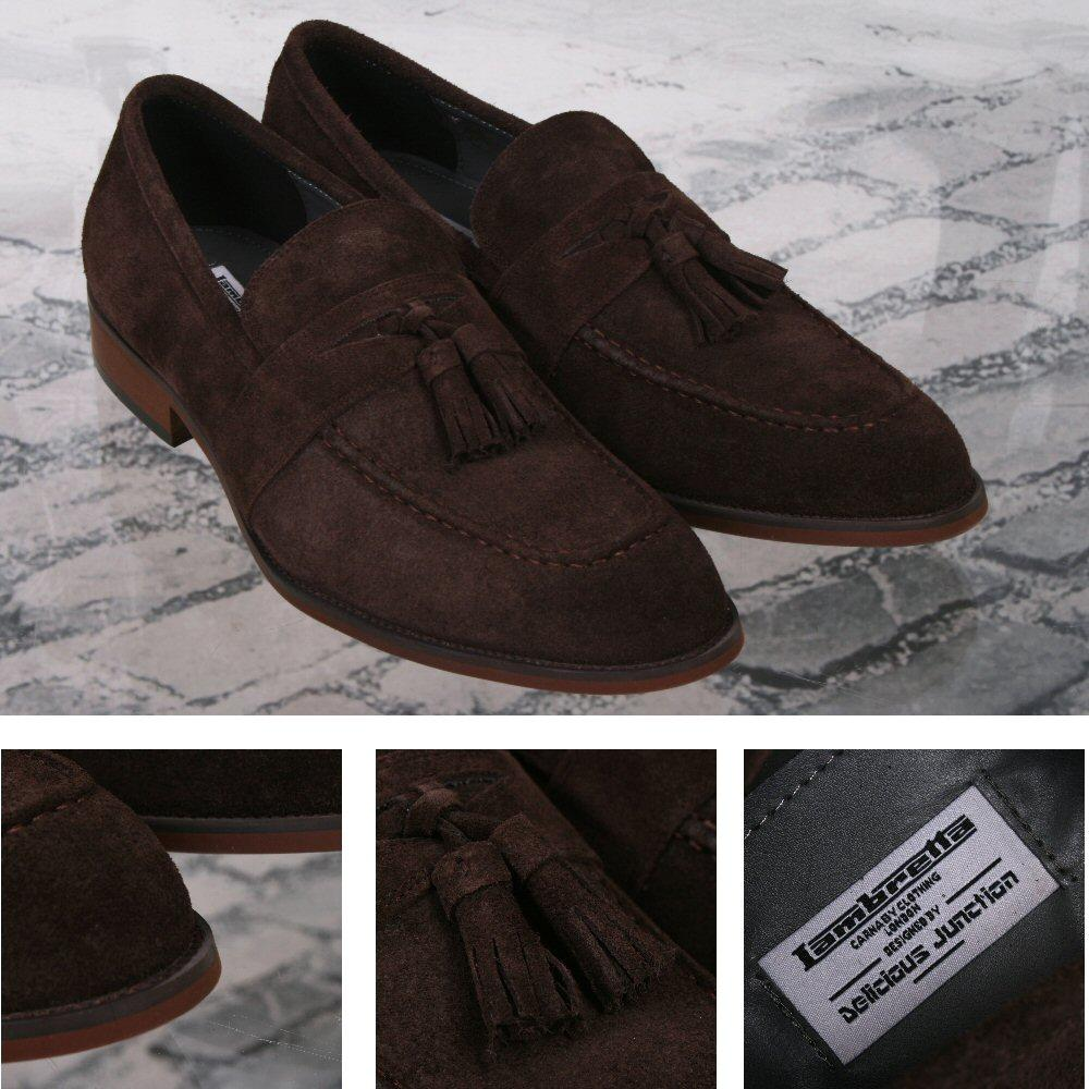 Lambretta x Delicious Junction Berwick Tasseled Loafers Suede Brown
