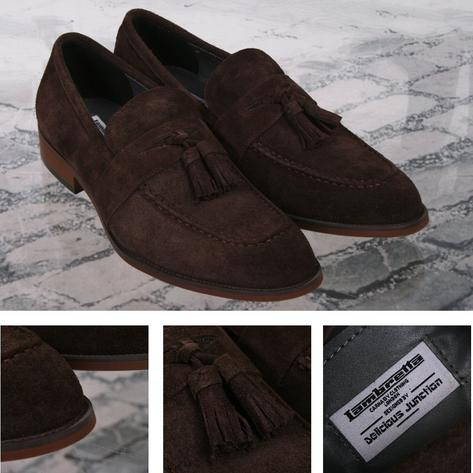 Lambretta x Delicious Junction Berwick Tasseled Loafers Suede Brown Thumbnail 1