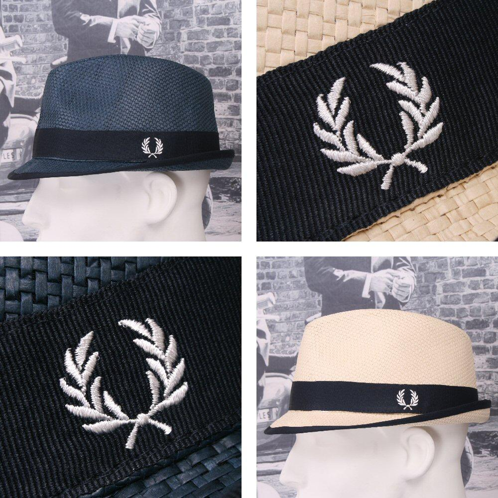 Fred Perry Retro 60's Mod Straw Basketweave Summer Hat