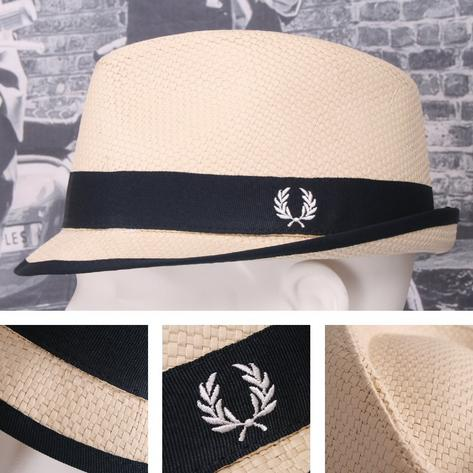 Fred Perry Retro 60's Mod Straw Basketweave Summer Hat Thumbnail 3
