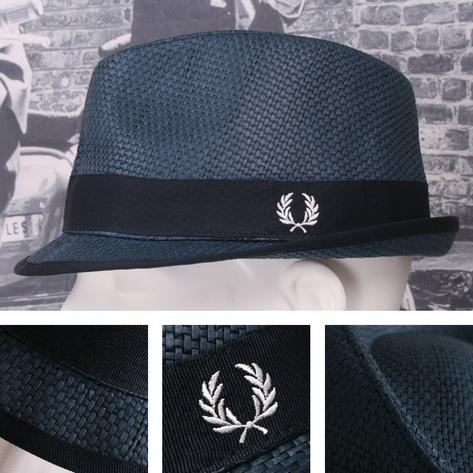 Fred Perry Retro 60's Mod Straw Basketweave Summer Hat Thumbnail 2