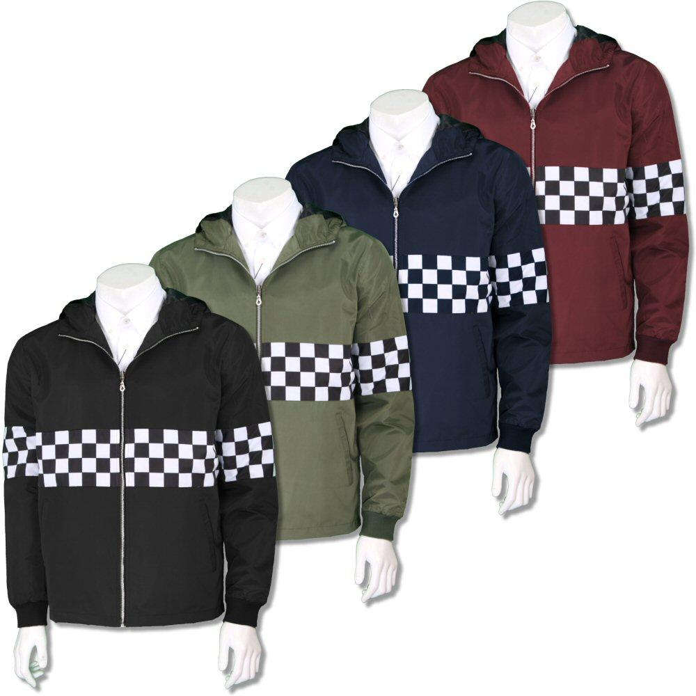 Get Up Two Tone Ska Rudeboy Checkerboard James Jacket Windbreaker