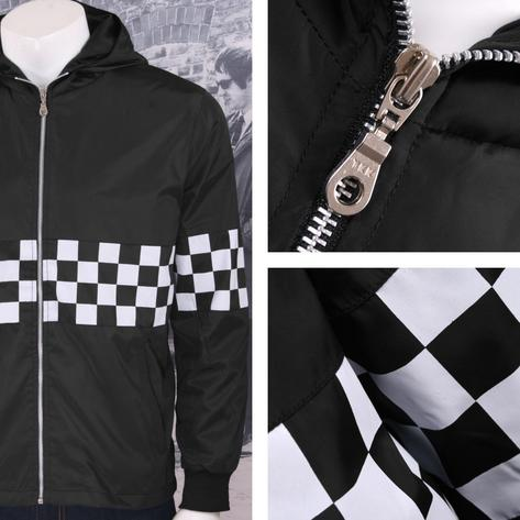 Get Up Two Tone Ska Rudeboy Checkerboard James Jacket Windbreaker Thumbnail 2
