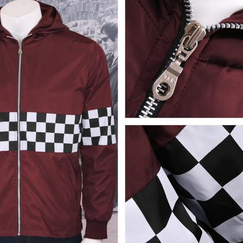 Get Up Two Tone Ska Rudeboy Checkerboard James Jacket Windbreaker Thumbnail 3