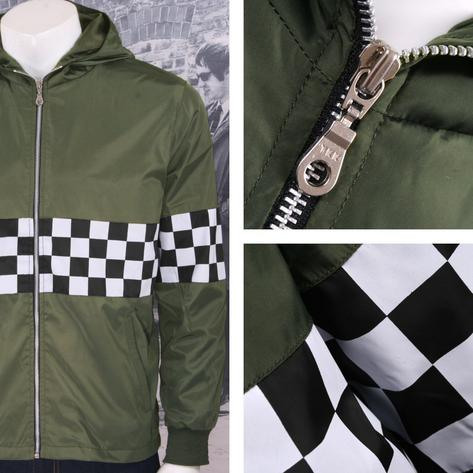 Get Up Two Tone Ska Rudeboy Checkerboard James Jacket Windbreaker Thumbnail 5