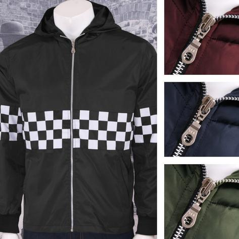 Get Up Two Tone Ska Rudeboy Checkerboard James Jacket Windbreaker Thumbnail 1