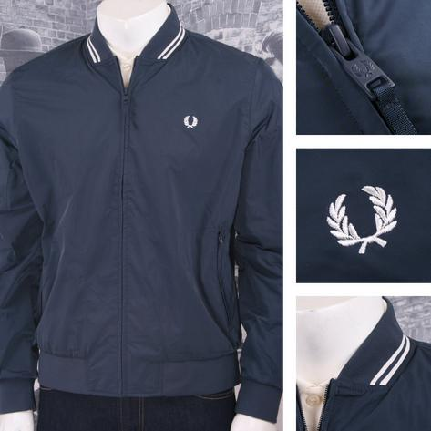 Fred Perry Mod 60's Tipped Showerproof Bomber Monkey Jacket Navy Thumbnail 3