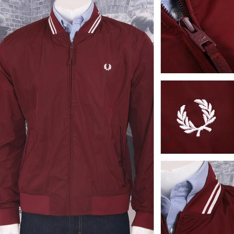 Fred Perry Mod 60's Tipped Showerproof Bomber Monkey Jacket Navy Thumbnail 2