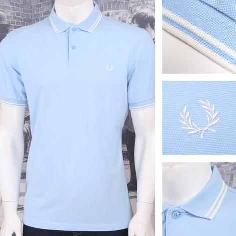 Fred Perry Mod Laurel Wreath Pique Tipped Polo Shirt Pastel Thumbnail 3