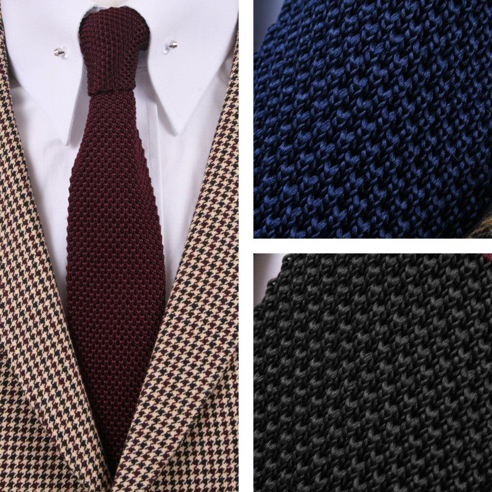 dec65584e557 Tootal Vintage Mod 60's Retro Classic Slim Square End Plain Knitted Silk Tie  | Adaptor Clothing