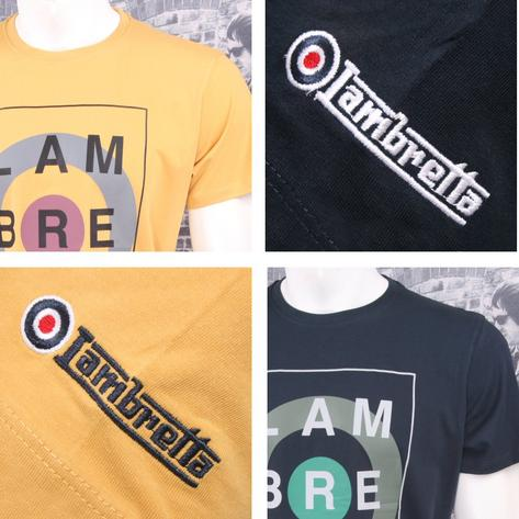 Lambretta Mod Retro 60's Crew Neck A Way Of Life Target Logo T-Shirt