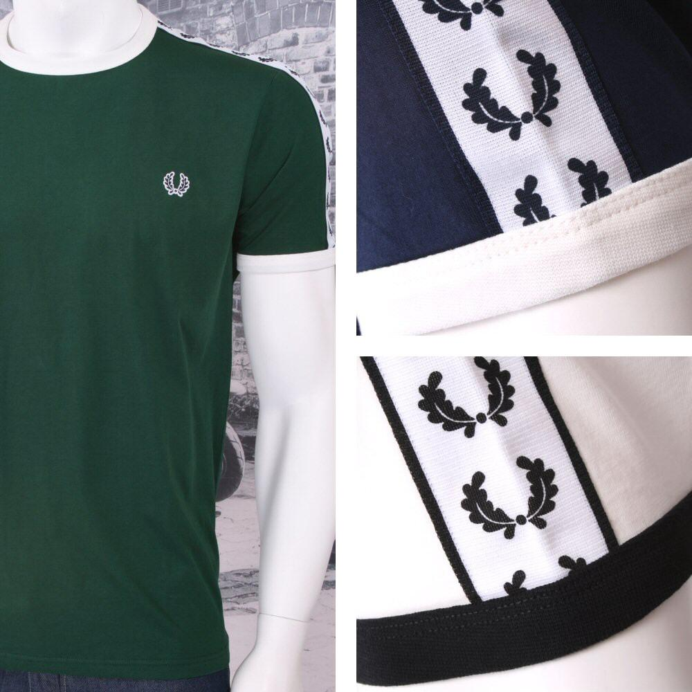 Fred Perry Mod 60's Laurel Wreath Authentic Taped Ringer T-Shirts