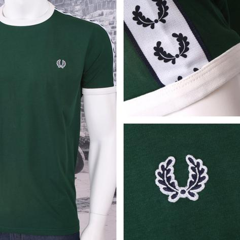 Fred Perry Mod 60's Laurel Wreath Authentic Taped Ringer T-Shirts Thumbnail 2