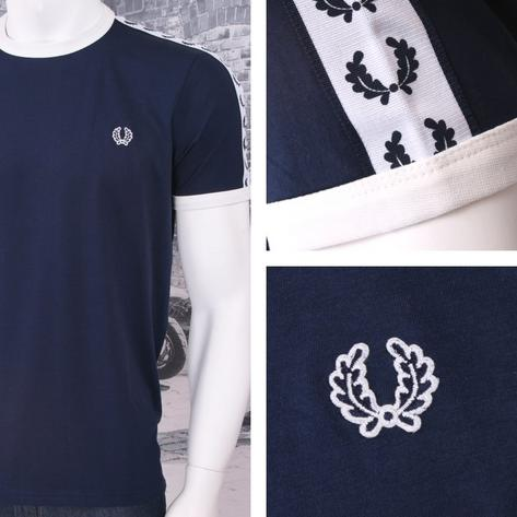 Fred Perry Mod 60's Laurel Wreath Authentic Taped Ringer T-Shirts Thumbnail 3