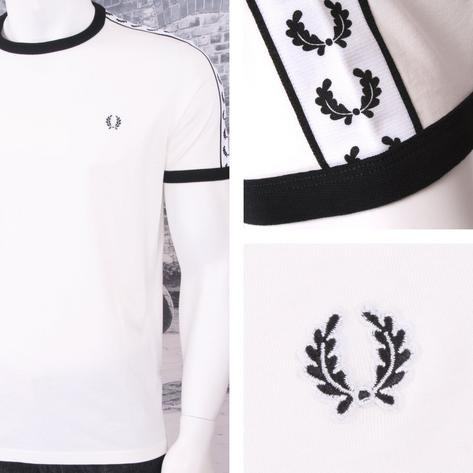 Fred Perry Mod 60's Laurel Wreath Authentic Taped Ringer T-Shirts Thumbnail 4