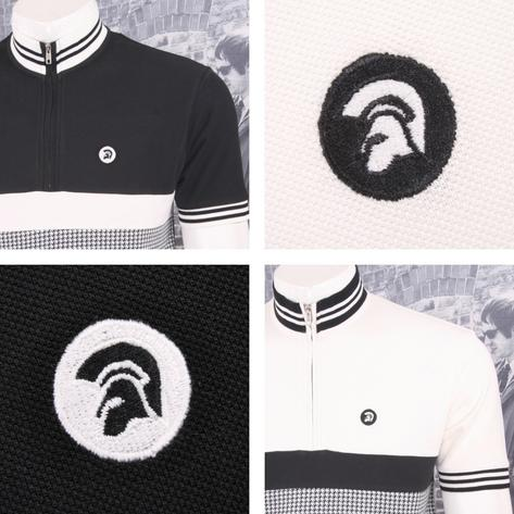 Trojan Records Mens Dogtooth Stripe Cycling Top