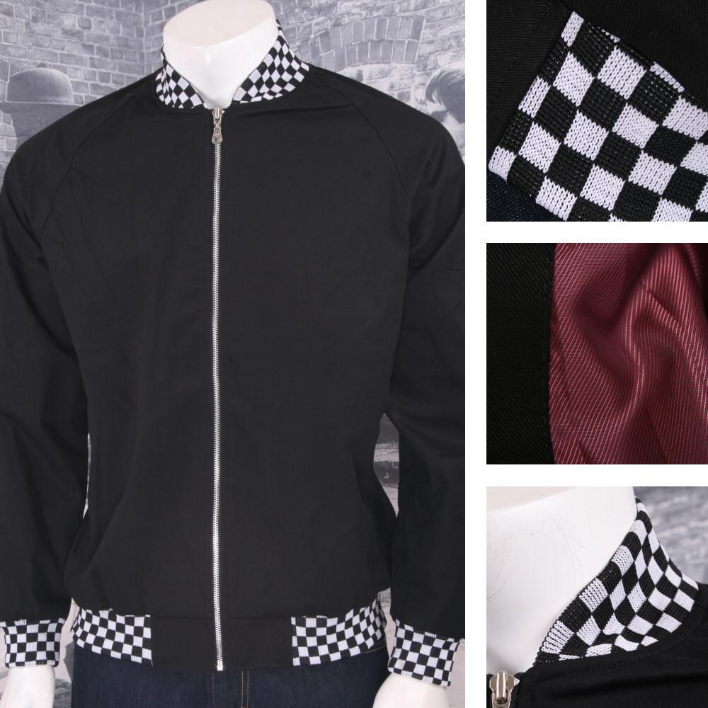 31a253dd9049 Details about Hoxton London Mens Retro Raglan Sleeve Multi Tipped Monkey  Jacket Black