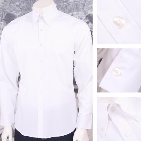Art Gallery Mens Long Sleeve Cotton Oxford Shirt Thumbnail 3