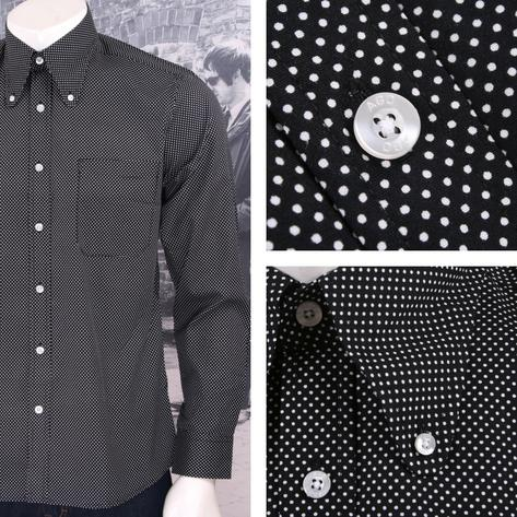 Art Gallery Mens Long Sleeve Polka Dot Shirt Thumbnail 5