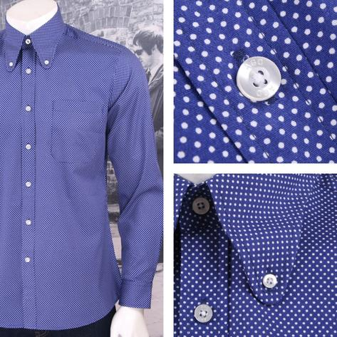 Art Gallery Mens Long Sleeve Polka Dot Shirt Thumbnail 3
