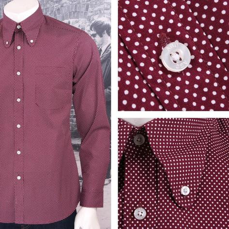 Art Gallery Mens Long Sleeve Polka Dot Shirt Thumbnail 2