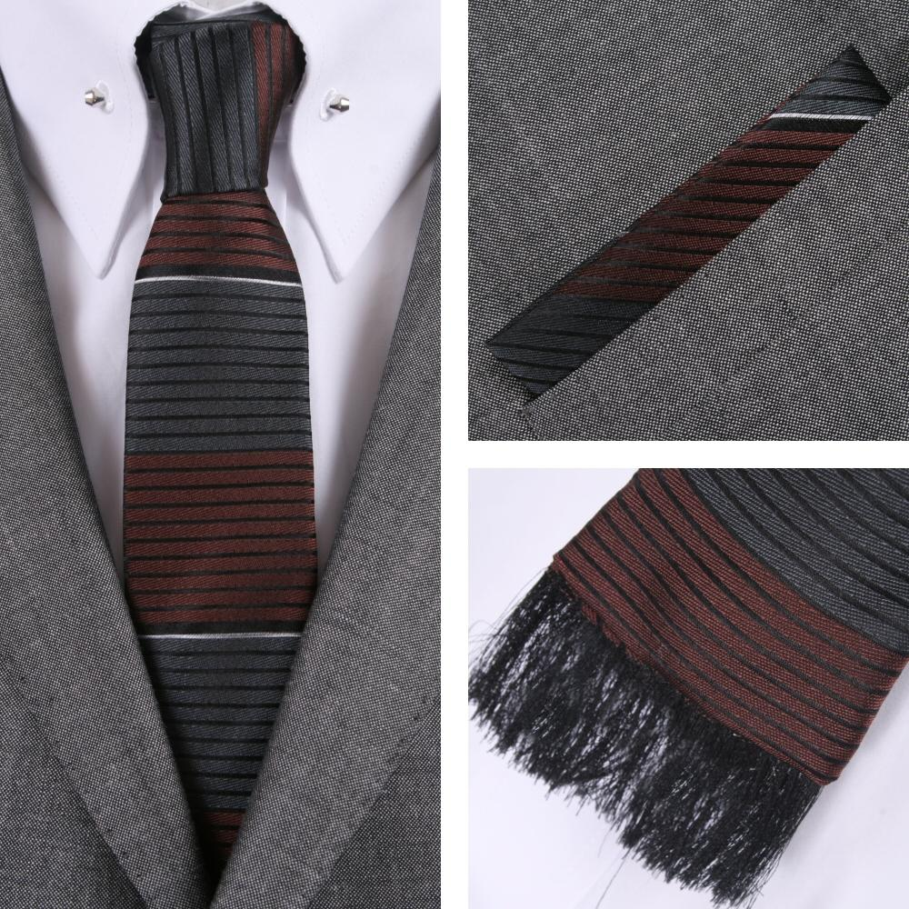 Knightsbridge Retro Square End Stripe Tie and Pocket Square Set Grey