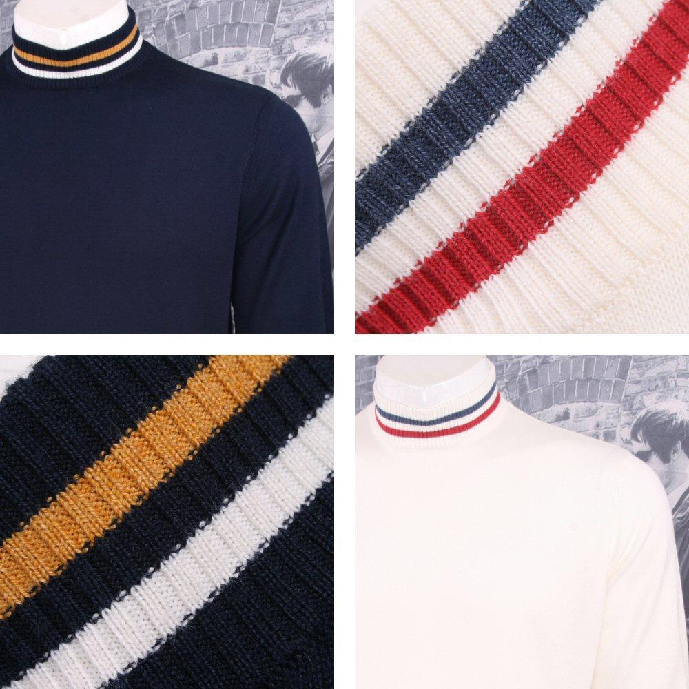 Art Gallery Mens Cotton Knit Turtle Neck Jumper