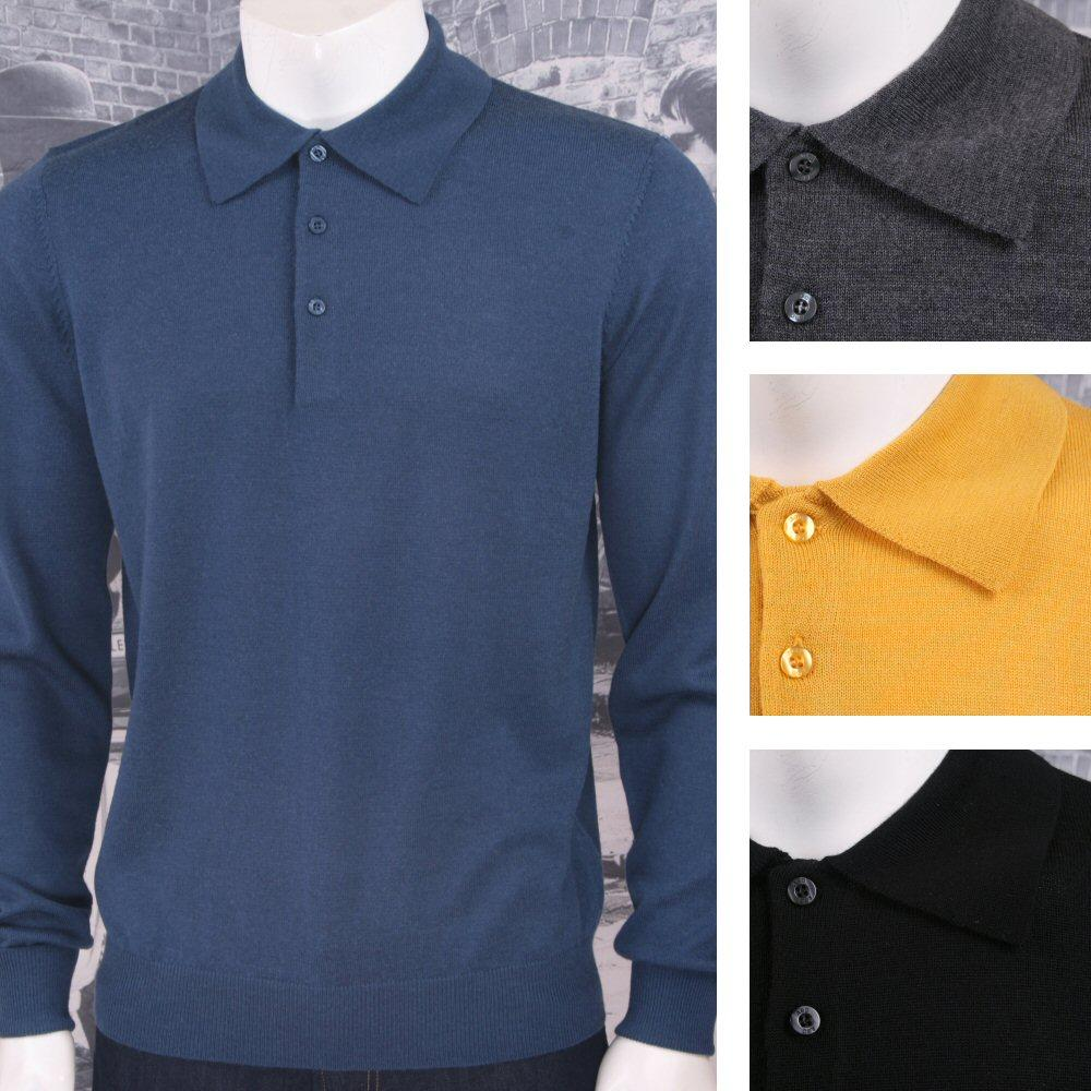 Art Gallery Mens Merino Wool Knit Polo Jumper