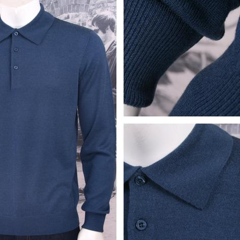 Art Gallery Mens Merino Wool Knit Polo Jumper Thumbnail 2