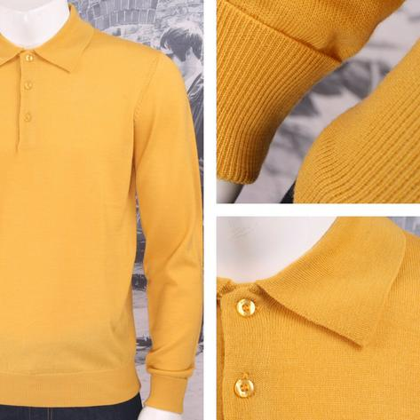 Art Gallery Mens Merino Wool Knit Polo Jumper Thumbnail 4
