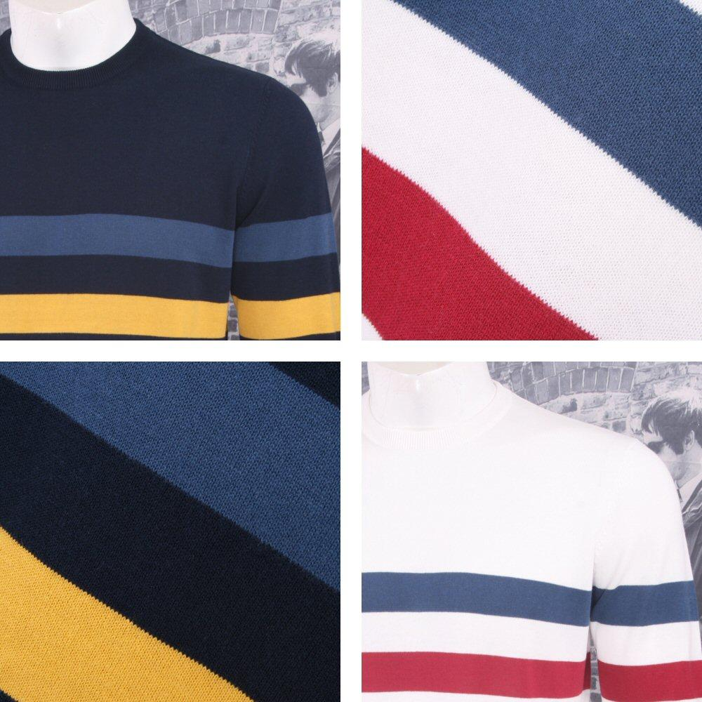 Art Gallery Mens Cotton Striped Crew Neck Jumper