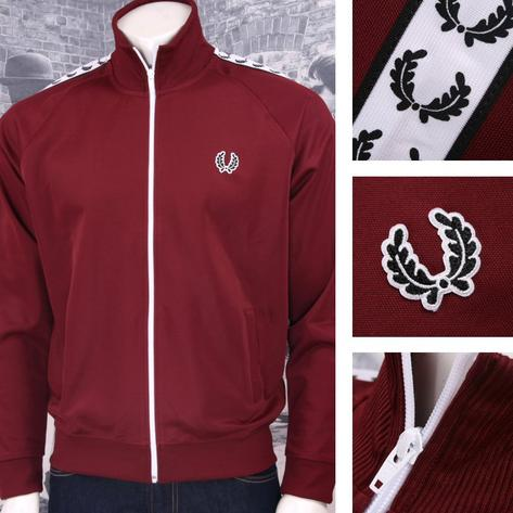 Fred Perry Mens Retro Taped Sports Track Top Thumbnail 2