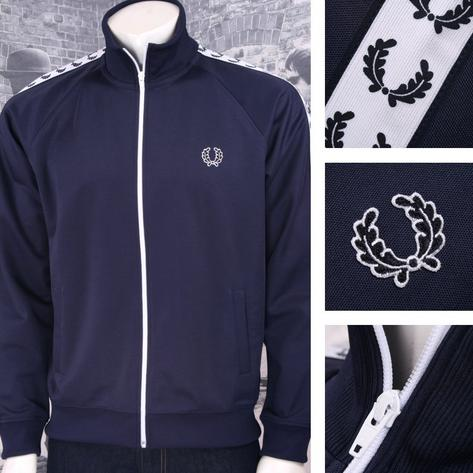 Fred Perry Mens Retro Taped Sports Track Top Thumbnail 3